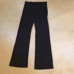 Bally Black Cotton Fabric Yoga Pants